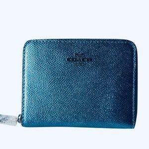 Coach Small Metallic Ice Wallet